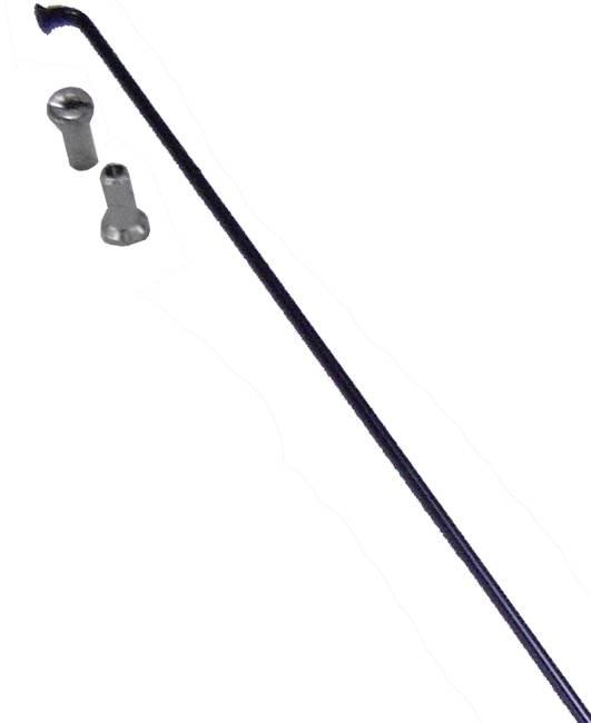 Raio Inox Preto com Niple 2,0 x 255mm - Shadar