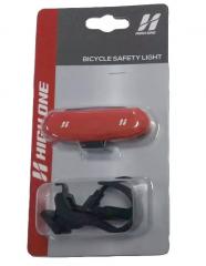 Vista Light Traseiro High One 1 Led Recarga Usb Vermelho