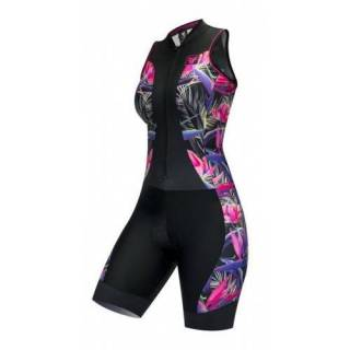 Macaquinho Regata Free Force Tropical Feminino Preto | BIKE ALLA CARTE