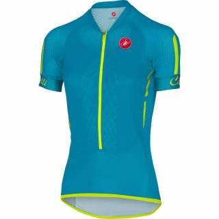 Camisa Castelli Feminina Climber Caribean Azul - Tam M e G | BIKE ALLA CARTE