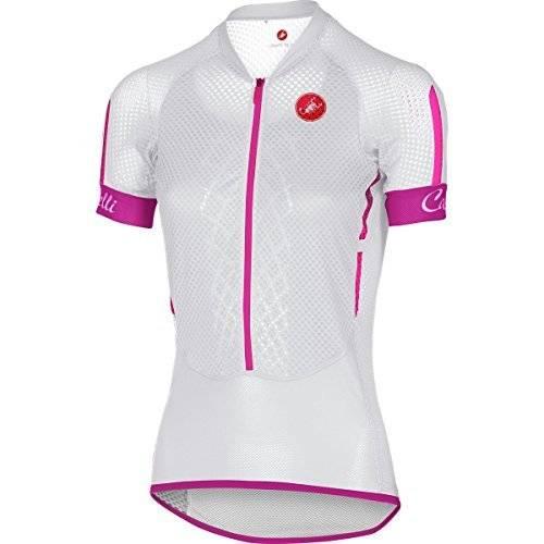 Camisa Castelli Feminina Climber Branca/Rosa - Tam P