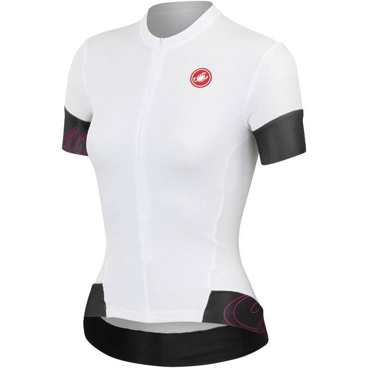 Camisa Castelli Feminina Fortuna FZ Branca - Tam P e M
