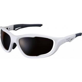 Óculos Shimano CE-S60X-PL Branco Fosco Lente Polarizada | BIKE ALLA CARTE
