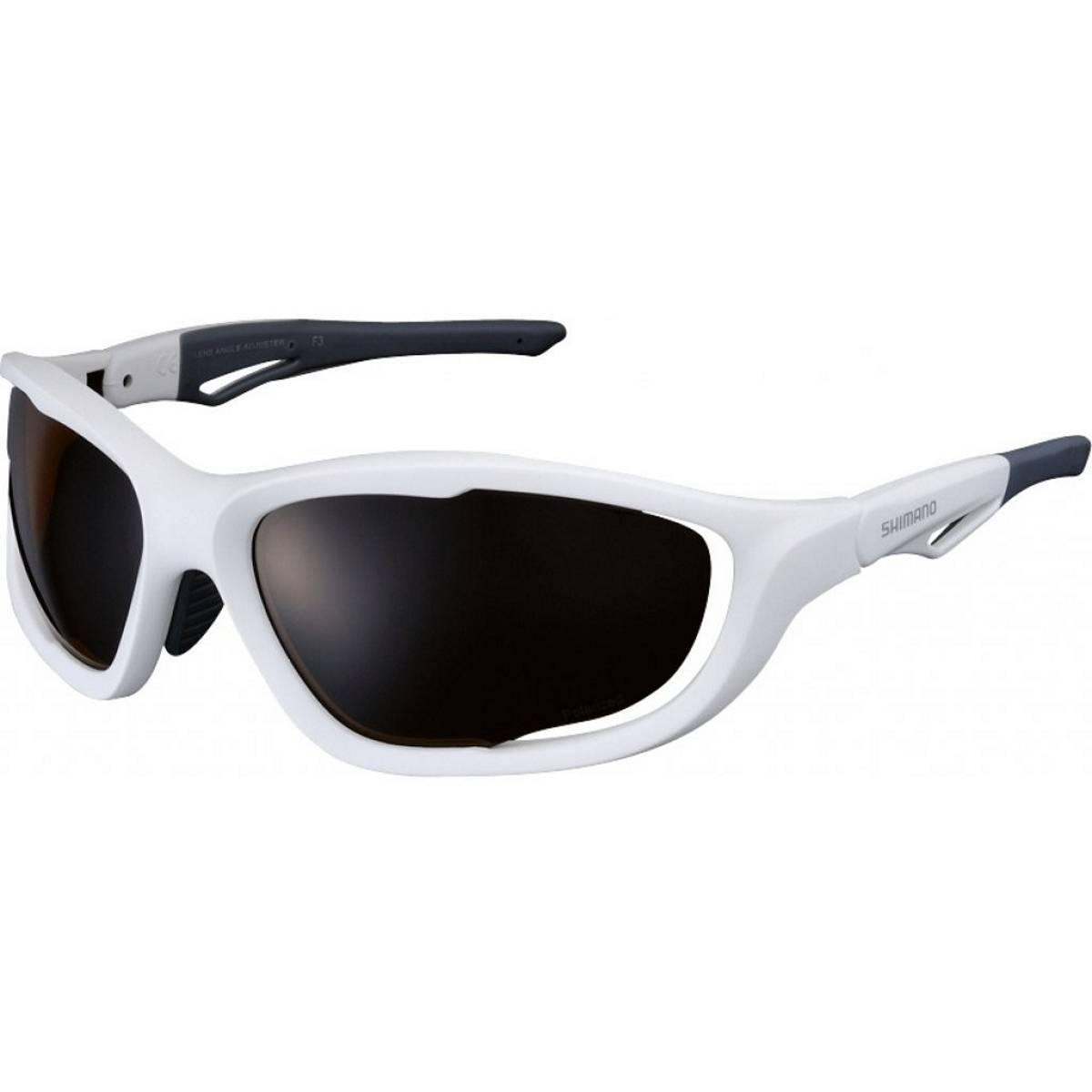 Óculos Shimano CE-S60X-PL Branco Fosco Lente Polarizada