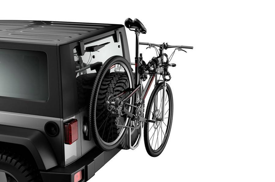 Suporte Transbike Thule Spare Me Pro - montado no estepe