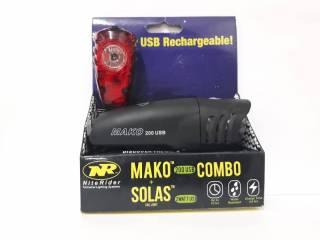 Niterider Combo Mako+Solas Usb | BIKE ALLA CARTE