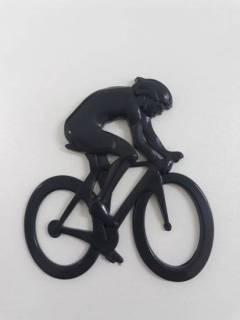 Emblema preto 3d Ictus Ciclista adesivo imantado p/ carro