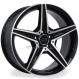 Jogo de rodas réplicas Mercedes C250 Sport Preto 17x8 5x112 ET45