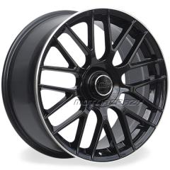 Jogo de rodas réplicas Mercedes C63 2015 Preto 20x8 e 20x9 5x112