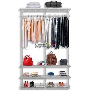Guarda roupa closet aramado sem portas CLR 285 1,30 branco