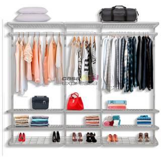 Guarda roupa closet aramado sem portas CLR 285 2,50 branco