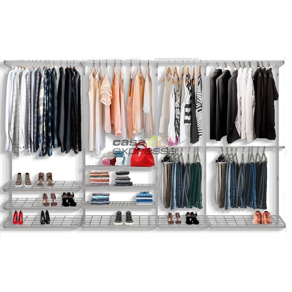 Guarda roupa closet aramado aberto CLR281 - 3,40m
