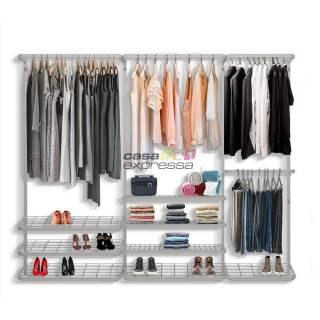 Guarda roupa closet aramado aberto CLR281 - 2,50m
