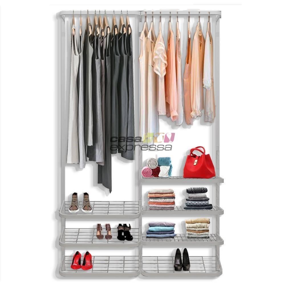 Guarda roupa closet aramado aberto CLR281 - 1,30m