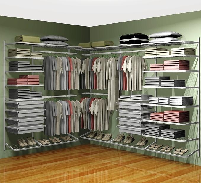 Closet aramado em l cll02 2 80m x 2 10m for Modelos de zapateras en closet