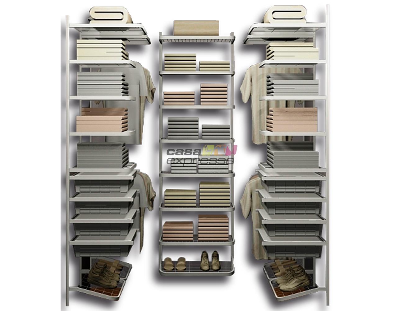 Closet Aramado em U CLU01 - 1,30m x 1,80m x 1,30m