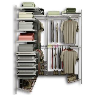Closet Aramado em U CLU02 - 2,80m x 1,60m x 1,50m