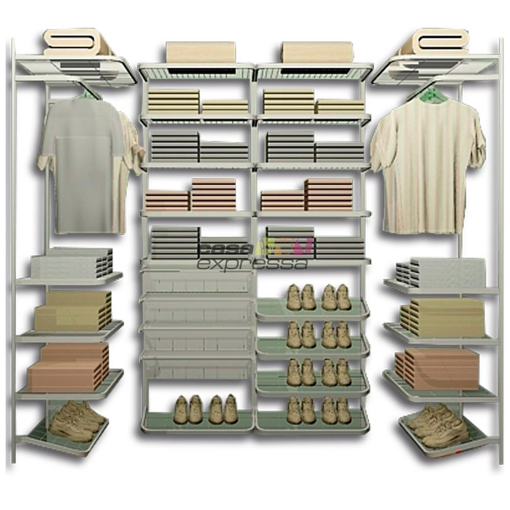 Closet Aramado em U CLU07 - 2,30m x 1,00m x 1,00m