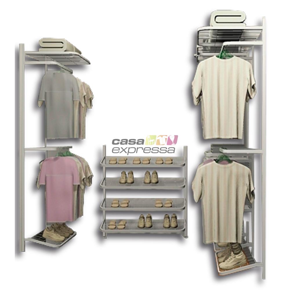 Closet Aramado em U CLU08 - 2,30m x 2,20m x 0,95m