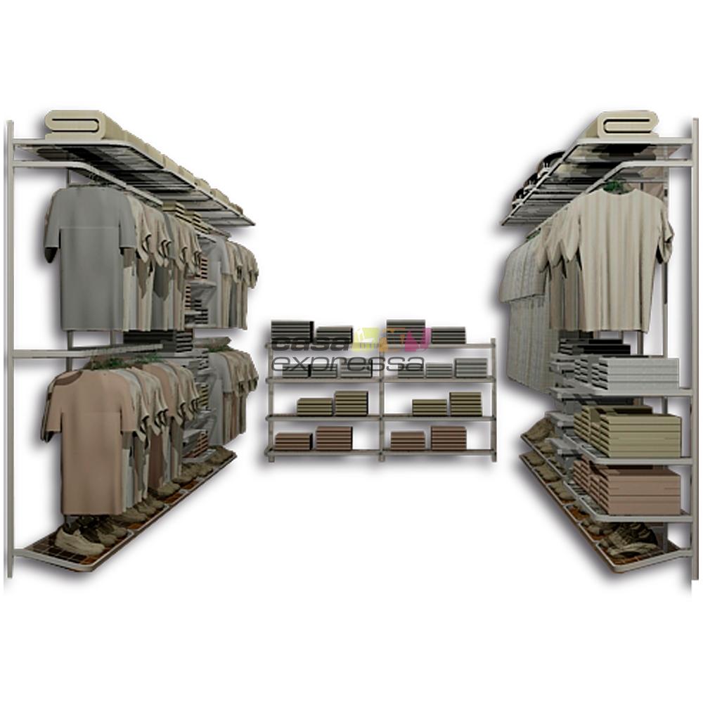 Closet Aramado em U CLU10 - 4,60m x 3,00m x 4,60m