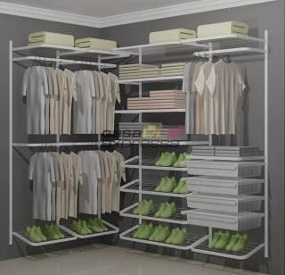 Closet Aramado em L CLL16 - 1,30m x 2,20m | CASA EXPRESSA
