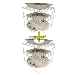 Organizador de Pratos para Canto - 2 Unidades | CASA EXPRESSA