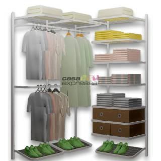 Closet Aramado em L  CLB01 - 1,30 x 1,30m