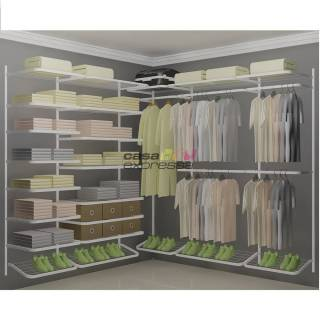 Closet Aramado em L  CLB04 - 2,20 x 2,20m