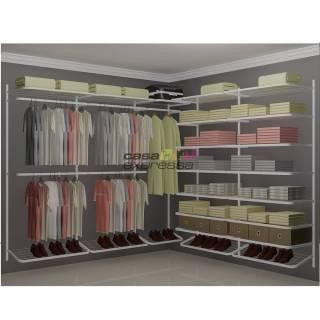Closet Aramado em L  CLB05 - 2,50 x 2,50m | CASA EXPRESSA