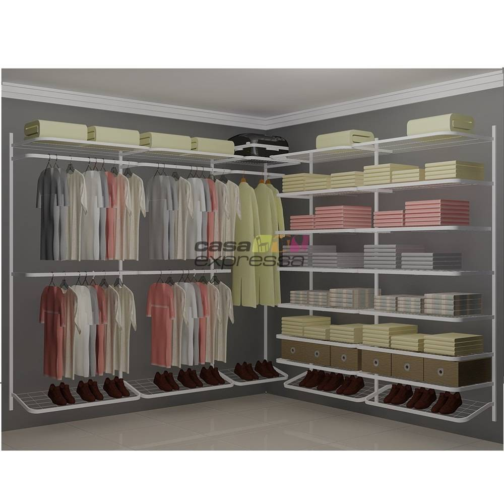 Closet Aramado em L  CLB05 - 2,50 x 2,50m