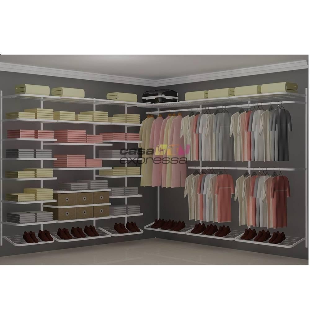 Closet Aramado em L  CLB06 - 2,80 x 2,80m