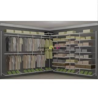 Closet Aramado em L  CLB07 - 3,10 x 3,10m | CASA EXPRESSA