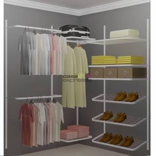 Closet Aramado em L  CLN02 - 1,60 x 1,60m