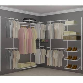 Closet Aramado em L  CLN04 - 2,20 x 2,20m