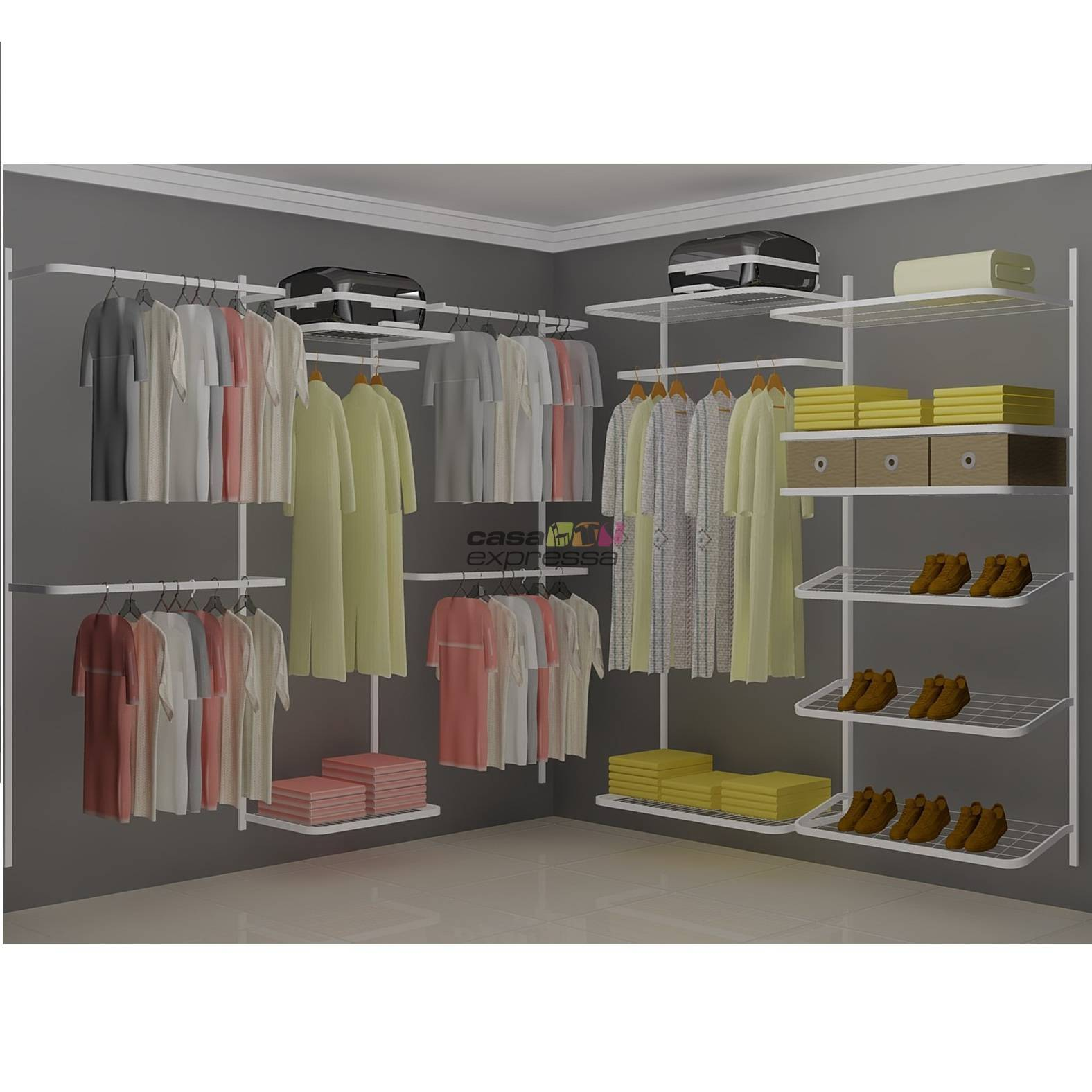 Closet Aramado em L  CLN05 - 2,50 x 2,50m