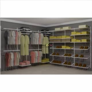 Closet Aramado em L  CLN07 - 3,10 x 3,10m | CASA EXPRESSA