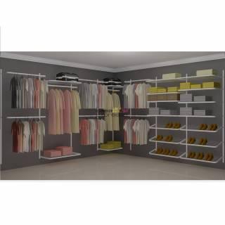 Closet Aramado em L  CLN08 - 3,40 x 3,40m | CASA EXPRESSA