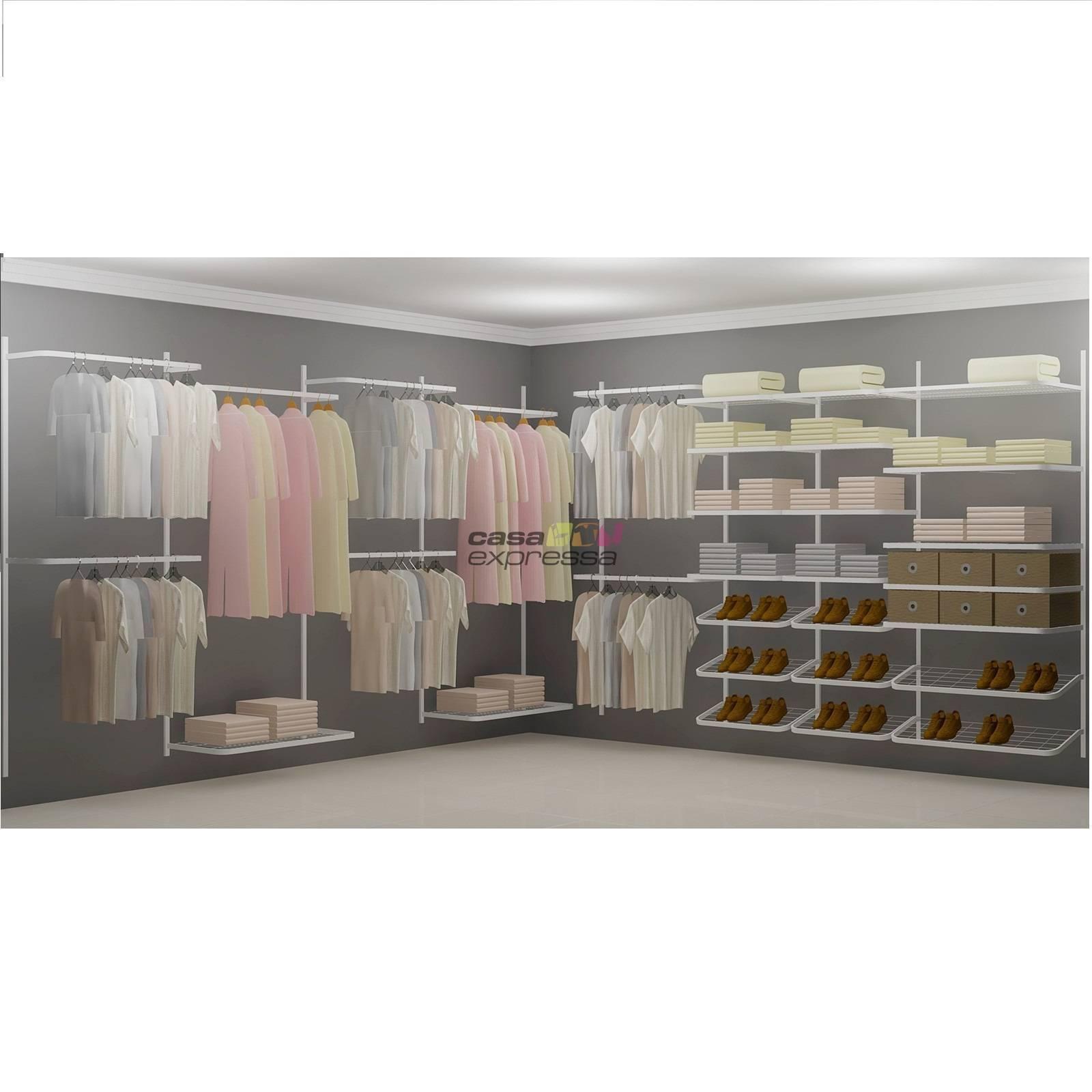 Closet Aramado em L  CLN09 - 3,70 x 3,70m