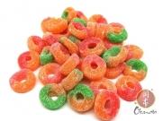 Anéis de frutas ácidas