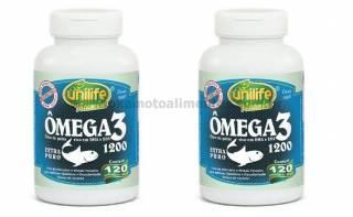 2 potes de Óleo de peixe ômega 3 - 120 cáps (1200mg)