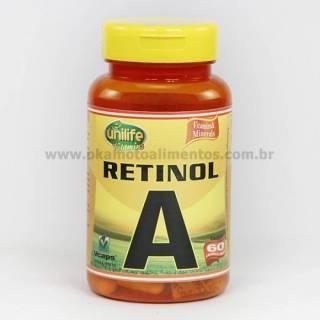 Vitamina A Retinol Unilife 60 cápsulas 500mg