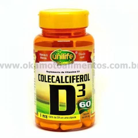 Vitamina D3 Colecalciferol Unilife 60 cápsulas 470mg