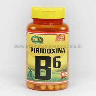 Vitamina B6 Piridoxina Unilife 60 cápsulas 500mg