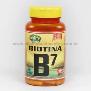 Vitamina B7 Biotina Unilife 60 cápsulas 500mg