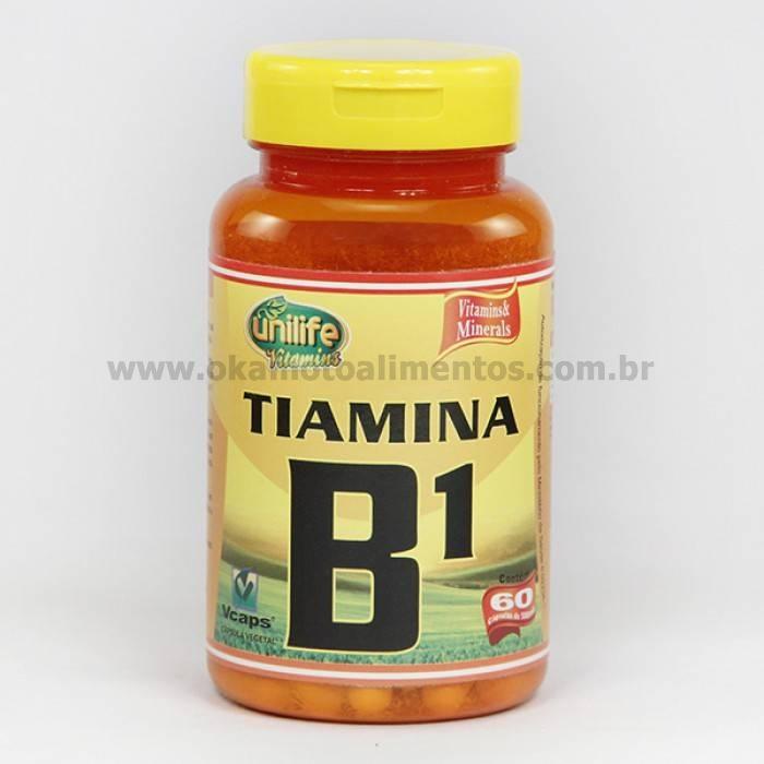 Vitamina B1 Unilife 60 cápsulas Tiamina
