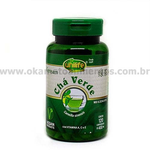 Chá verde 120 caps(400mg) - unilife