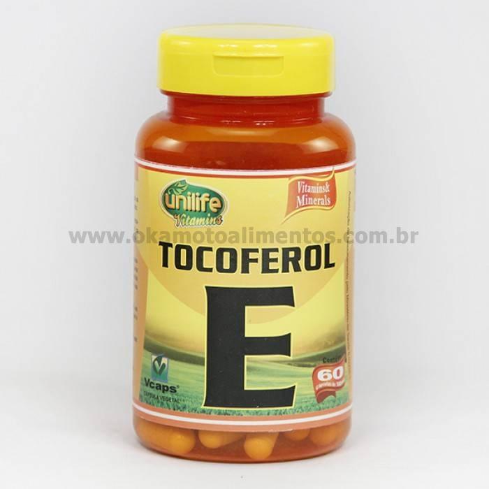Vitamina E Tocoferol Unilife 60 cápsulas 470mg