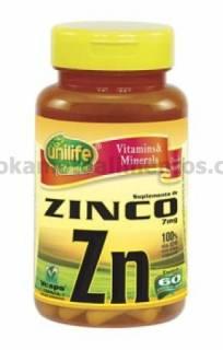 Zinco Unilife 60 cápsulas 500mg | OKAMOTO ALIMENTOS