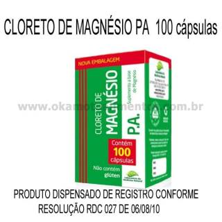 Cloreto de Magnésio P.A. 100 cápsulas 500mg Medinal | OKAMOTO ALIMENTOS