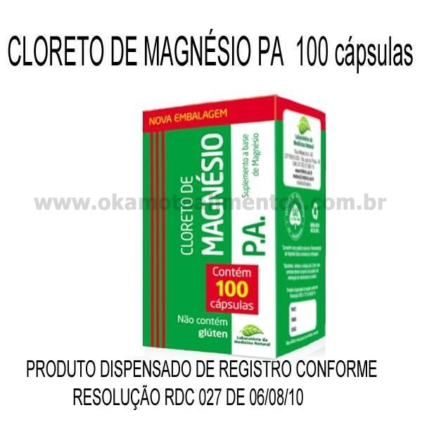 Cloreto de Magnésio P.A. 100 cápsulas 500mg Medinal